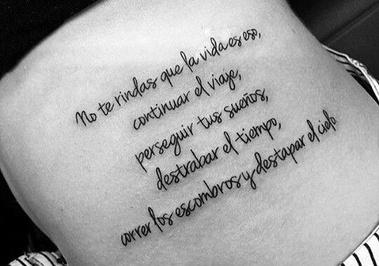 20 Tatuajes Para Mujeres Con Frases En Español Sobre La Vida