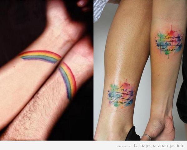 Tatuajes Para Parejas Homosexuales 30 Diseños Llenos De Orgullo