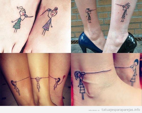 Tatuajes En Pareja Para Hermanas Y Amigas Tatuajes Para