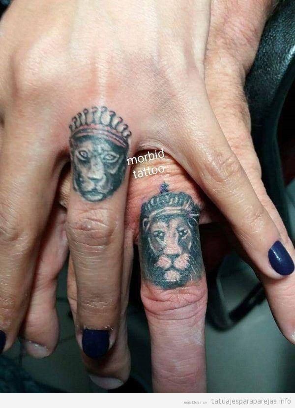 Tatuajes Pareja De Leones 30 Diseños Llenos De Poder Y Amor