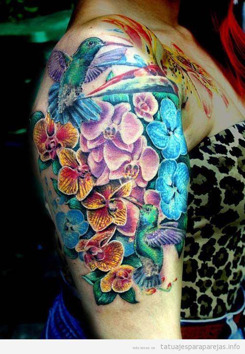Tatuajes Flores Paajros Brazo Tatuajes Para Parejastatuajes Para