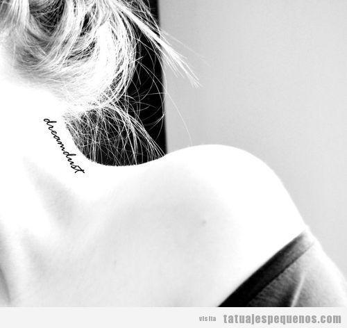 Tatuajes Pequeños En El Cuello Para Mujer 20 Diseños Atrevidos Pero