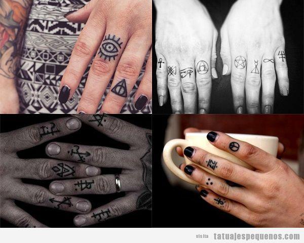 Tatuajes Pequeños En Los Dedos De La Mano 40 Diseños Con Mucho
