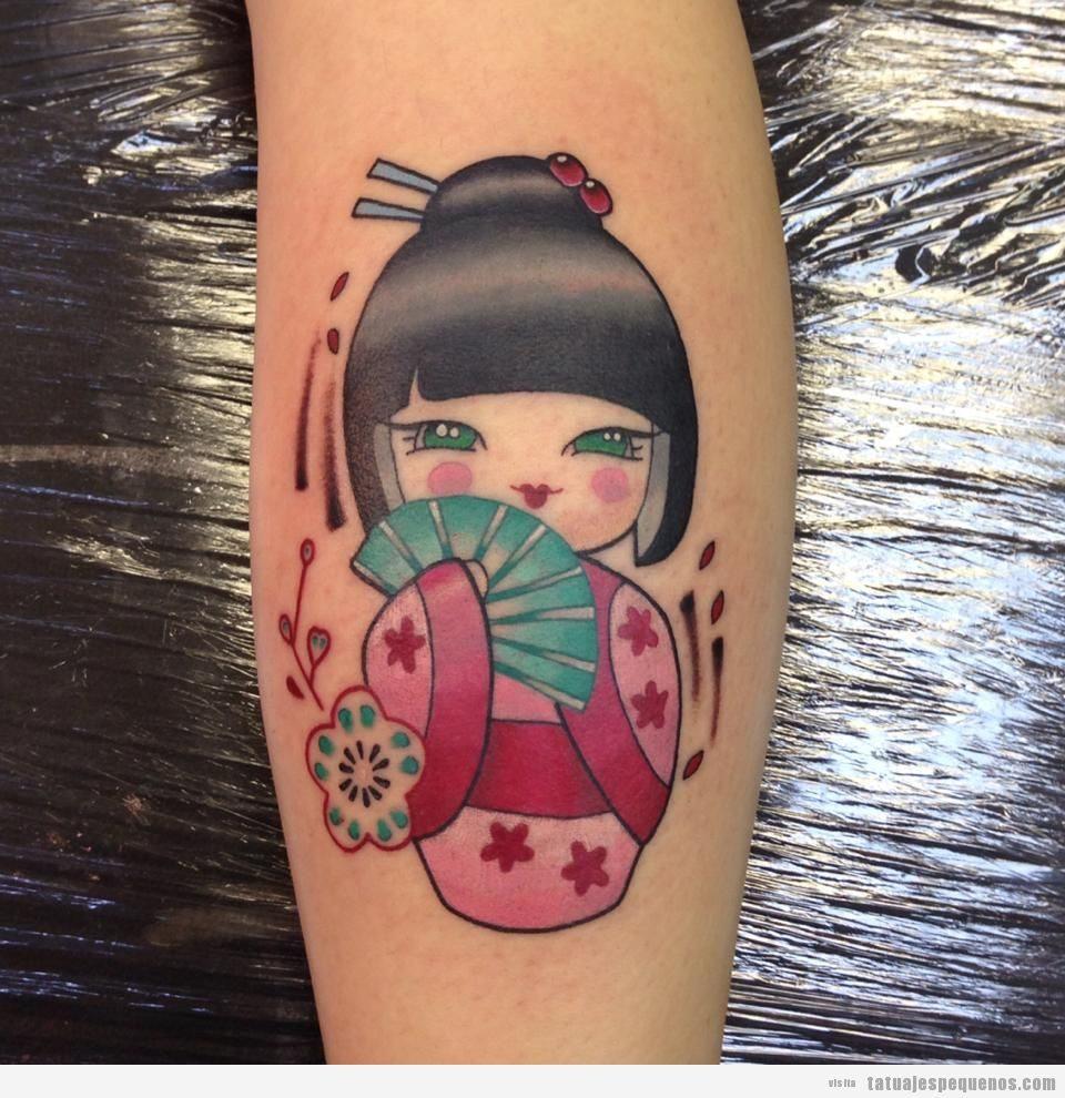 Tatuajes Pequeños De Muñecas Japonesas Kokeshi Tatuajes Pequeños