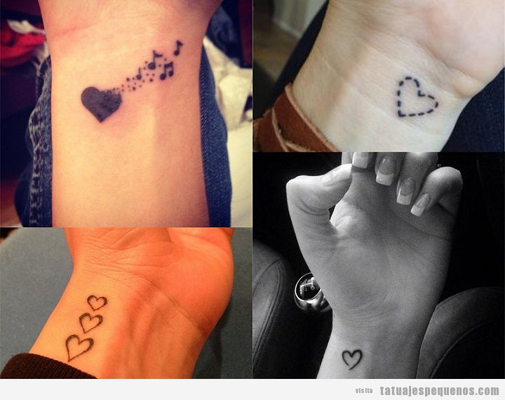 Tatuajes Pequeños De Corazones Más De 25 Diseños Llenos De Amor
