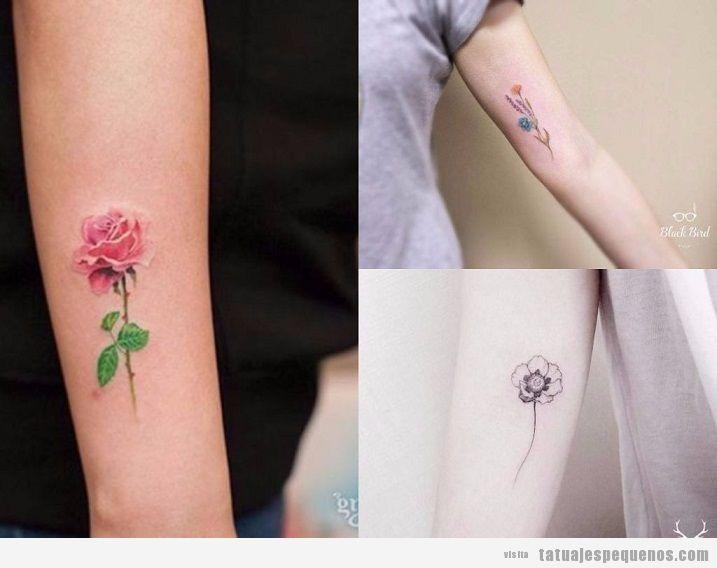 Tatuajes Pequeños De Flores 25 Delicados Diseños Para Decorar Tu