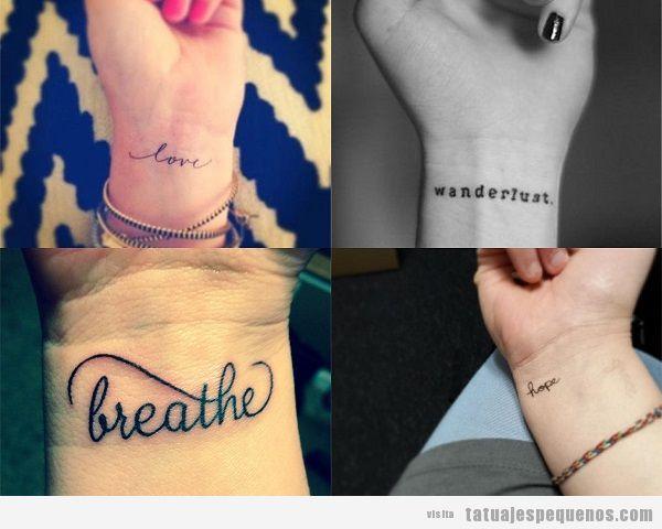 Tatuajes Pequeños De Palabras Diseños Que Dicen Mucho De Ti En