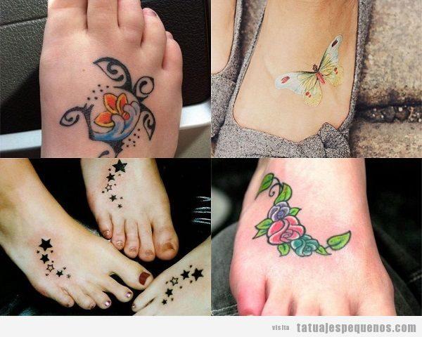 Tatuajes Pequeños En El Pie 30 Bonitos Diseños En Empeine Dedos