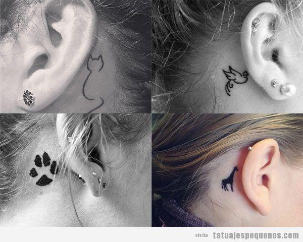 35 Diseños De Tatuajes Pequeños Detrás De La Oreja Para Mujer