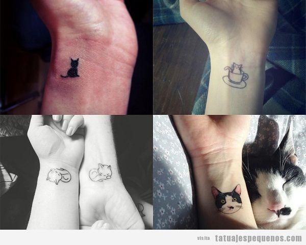 Tatuajes Pequeños De Gatos 30 Diseños Que Plasman El Amor Por