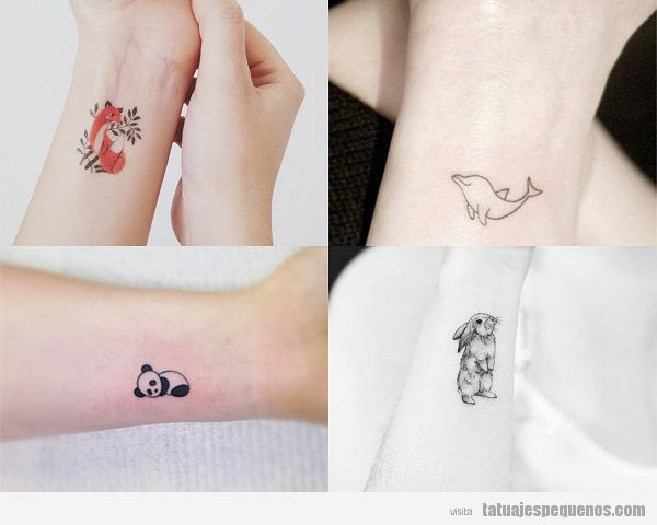 Tatuajes Pequeños De Animales 25 Diseños Súper Bonitos Y Tiernos