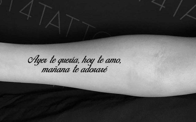 Dedicatorias De Amor Para Tatuarse Te Atreves Tatuajes Pequeños