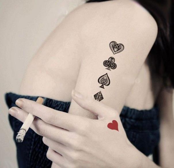 El Significado De Los Tatuajes De Póker Tatuajes Pequeños