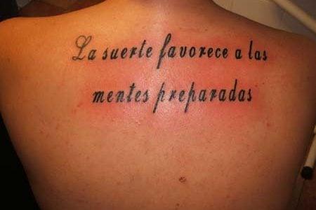 Tatuajes De Frases En Español Ideas Y Fotografías