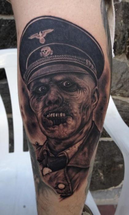 Tatuaje De Un Zombie Nazi