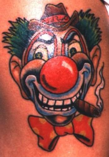 Tatuaje De Payaso Fumando Puro