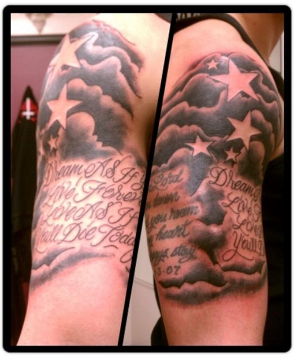 30 Tatuajes De Nubes Con Diseños Originales