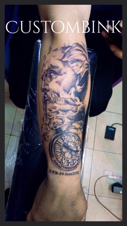 Tatuaje Del Artista Mexicano B Ink Tattoo Zeus Tatuajes Y Más