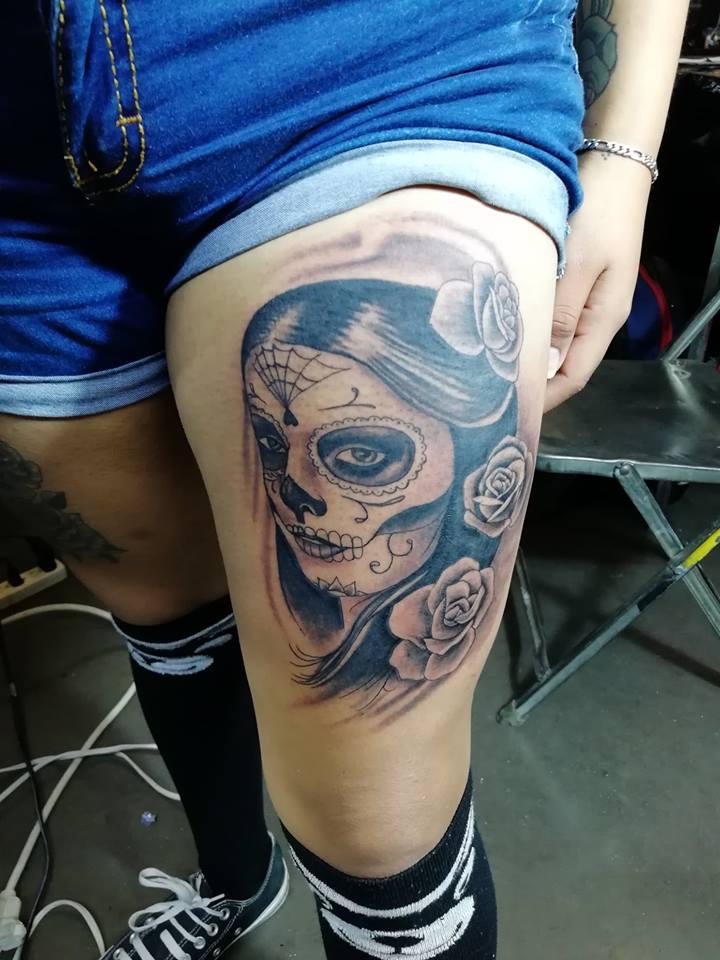 Tatuaje Del Artista Mexicano Juliio Tatuajes Catrina Tatuajes