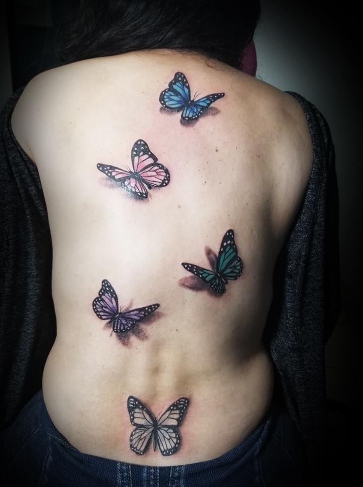 Tatuaje Del Artista Mexicano Omar Mendoza Mariposas 3d