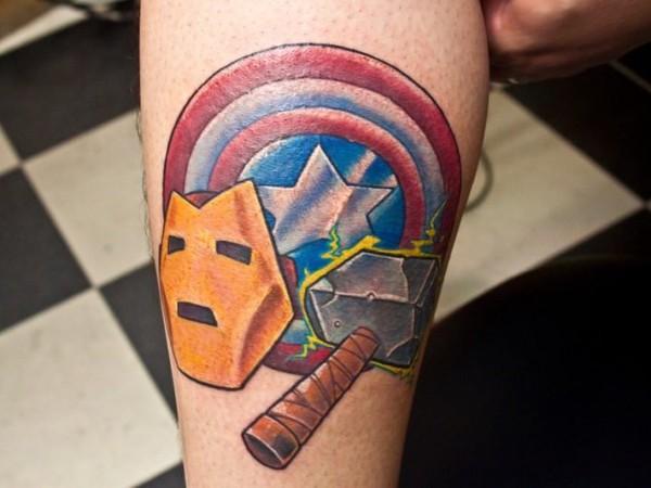 10 Tatuajes De Superhéroes De Marvel Comics