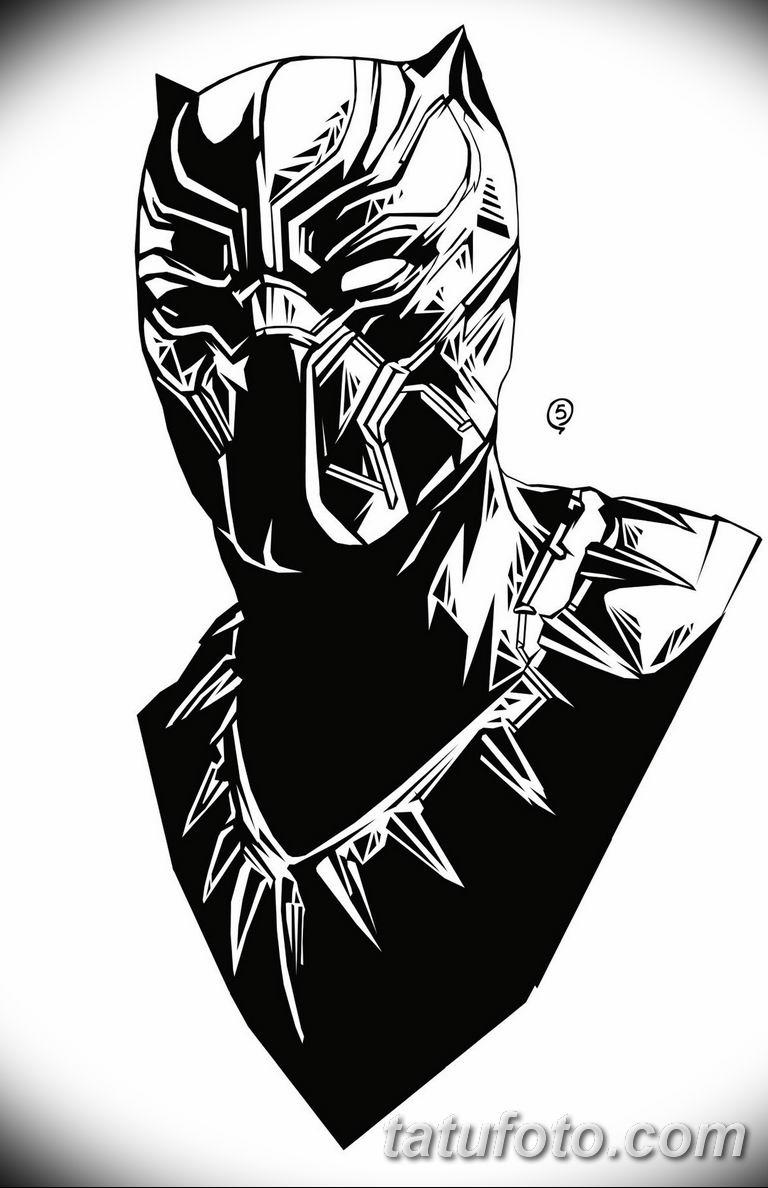 черно белый эскиз тату с черной пантерой 11032019 012 Tattoo
