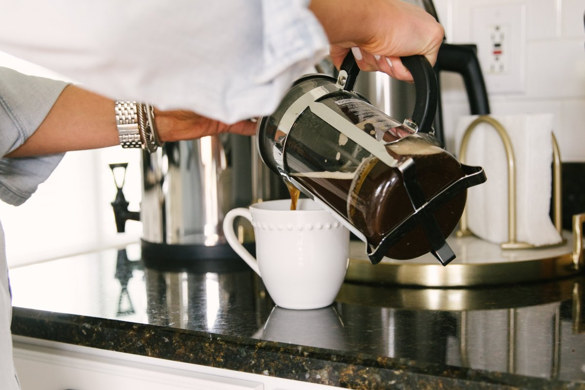 image of Sarah Bridgeman pouring coffee