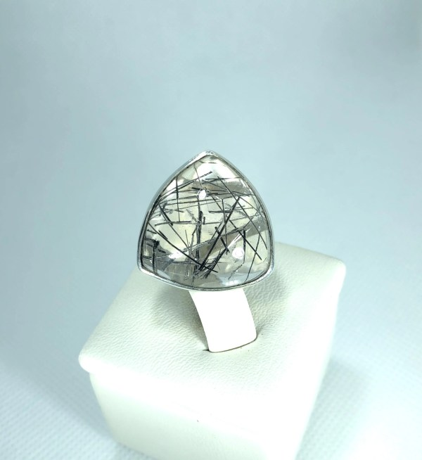 Bague Quartz inclusion tourmaline