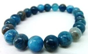 Bracelet apatite bleu 8mm