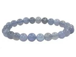 Bracelet Calcédoine bleu 8mm