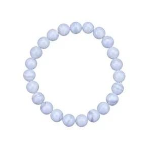 Bracelet Calcédoine bleu