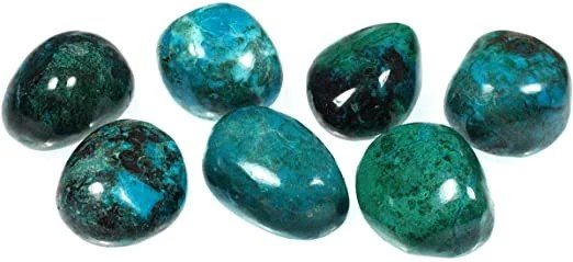 Chrysocolle pierre roulées