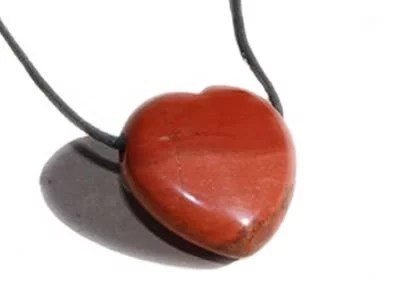 Jaspe rouge pendentif cœur