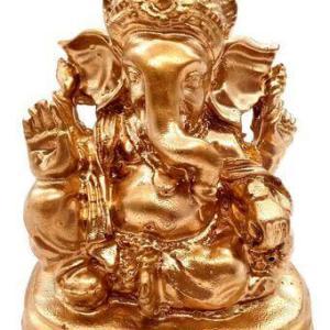 Statue Résine Ganesh Or 9cm