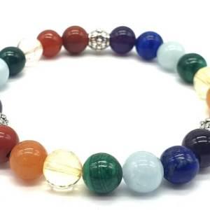 Bracelet 7 Chakras PREMIUM 1-Mix perles 8mm