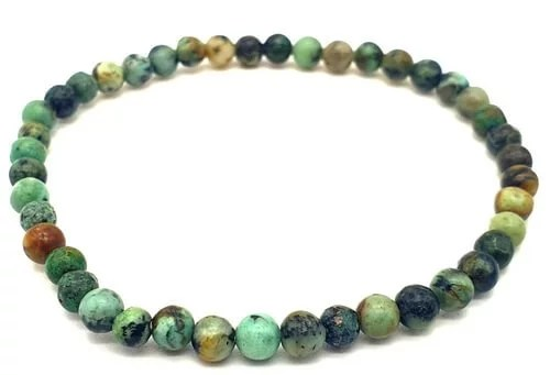 Bracelet Turquoise Africaine perles 4mm