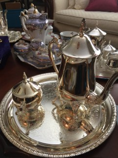 Several tea/coffee sets
