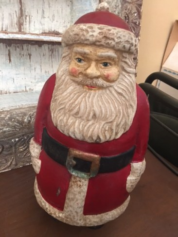 Cast iron Santa bank