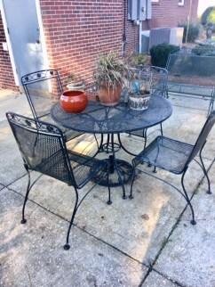 Outdoor metal patio set
