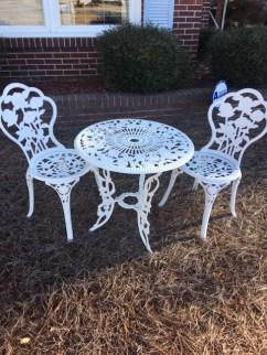 Outdoor wrought iron set