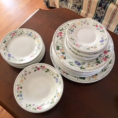 Large assortment of china and everyday dishes