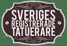 Logotyp med texten: Sveriges registrerade tatuerare