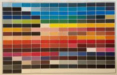 Färgkarta över nuvarande legala tatueringsfärger