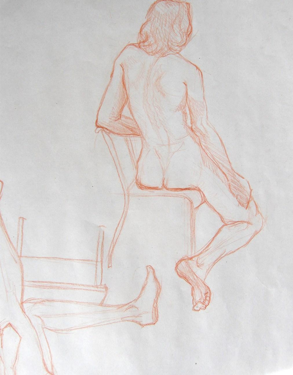 Quick pencil studies by Tatyana Deniz, pencil on paper, 2011