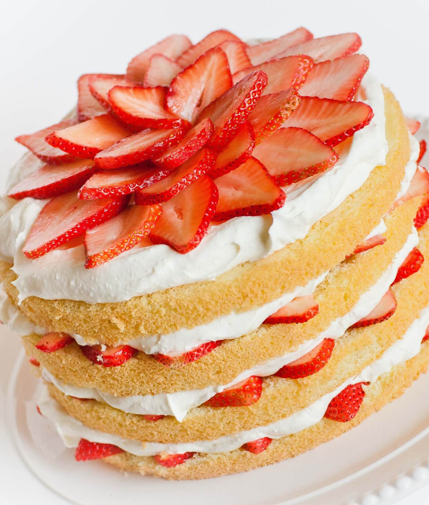 Strawberries And Cream Cake With Cream Cheese Frosting Tatyanas