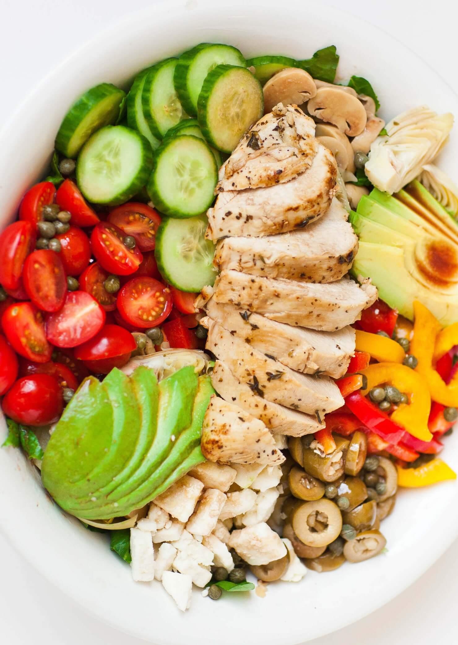 Italian Chicken Salad With Red Wine Vinaigrette