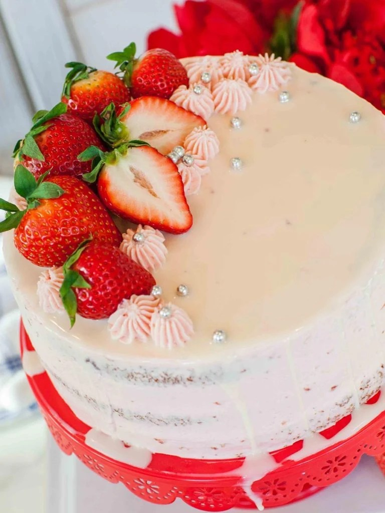Strawberry Basil Cake Video Tatyanas Everyday Food