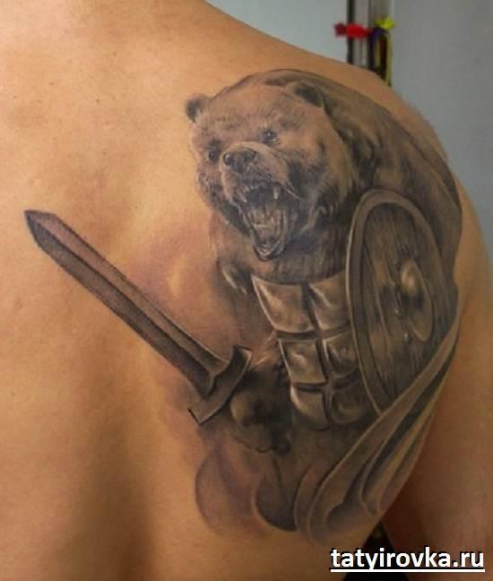 Тату-медведь-и-их-значение-15