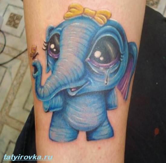 Тату-слон-и-их-значение-7