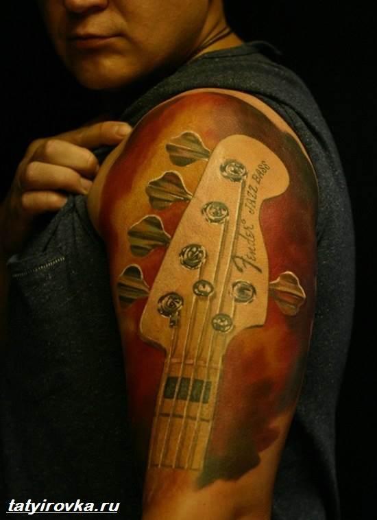 Тату-гитара-Значение-тату-гитара-Фото-и-эскизы-тату-гитара-9